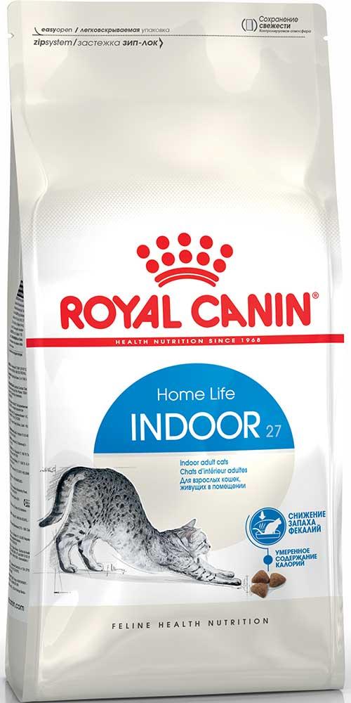 Royal Canin Сухой корм для взрослых котов и кошек, живущих в помещении Indoor 27 Home Life (0,4 кг)Royal Canin<br>Royal Canin Сухой корм для взрослых котов и кошек, живущих в помещении Indoor 27 Home Life<br>