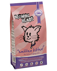 Meowing Heads Сухой корм для котят с лососем, курицей и рисом Поразительный котенок Smitten Kitten (2 кг)Meowing Heads<br>Meowing Heads Сухой корм для котят с лососем, курицей и рисом Поразительный котенок Smitten Kitten<br>