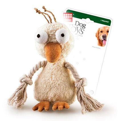 Gigwi Игрушка для собак Утка с пищалкой и крыльями-перетяжками (средняя)GiGwi<br>Gigwi Игрушка для собак Утка с пищалкой и крыльями-перетяжками<br>