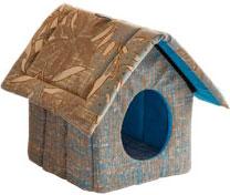 Zooexpress Домик-изба для кошек и собак на молнии (мебельная ткань) (33 см)ZooExpress<br>Zooexpress Домик-изба для кошек и собак на молнии (мебельная ткань)<br>