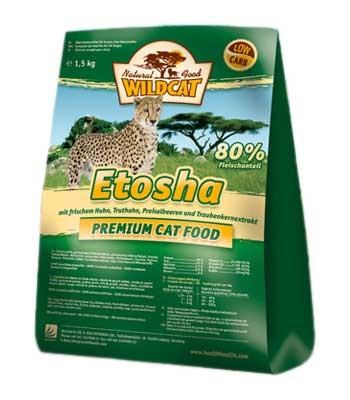Wildcat Сухой беззерновой корм для кошек с курицей, индейкой, брусникой Etosha (3 кг)Wildcat<br>Wildcat Сухой беззерновой корм для кошек с курицей, индейкой, брусникой Etosha<br>