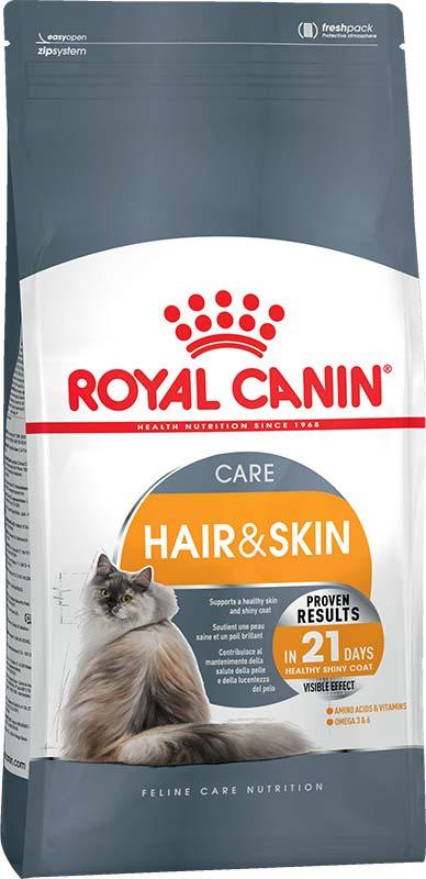 Royal Canin Сухой корм для взрослых кошек для поддержания здоровья кожи и шерсти Hair&amp;Skin Care (0,4 кг)Royal Canin<br>Royal Canin Сухой корм для взрослых кошек для поддержания здоровья кожи и шерсти Hair&amp;Skin Care<br>