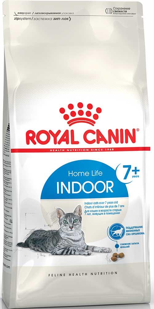 Royal Canin Сухой корм для пожилых котов и кошек, живущих в помещении Indoor 7+ Home Life (1,5 кг)