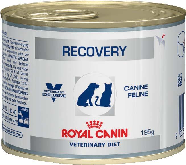 ROYAL CANIN Консервы для котов и кошек в критических состояниях и в период выздоровления Recovery (195 г)Royal Canin Veterinary Diet<br>ROYAL CANIN Консервы для котов и кошек в критических состояниях и в период выздоровления Recovery<br>