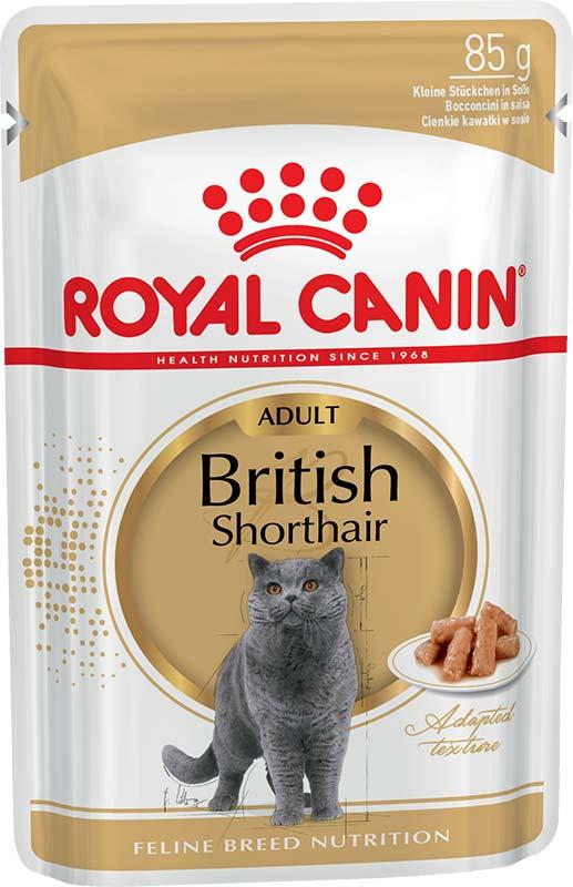 Royal Canin Консервы в соусе для кошек породы британская короткошерстная British Shorthair Adult (85 г)