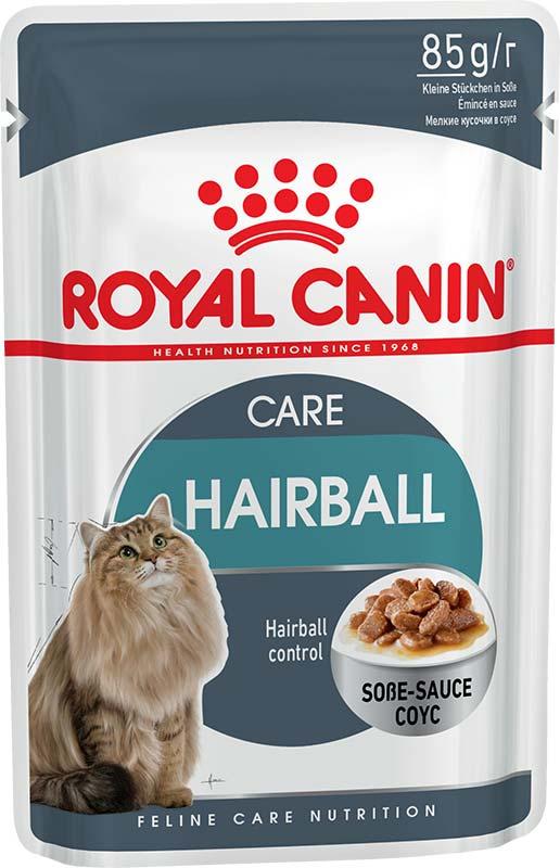 Royal Canin Консервы в соусе для взрослых кошек для выведения шерсти Hairball Care (85 г)Royal Canin<br>Royal Canin Консервы в соусе для взрослых кошек для выведения шерсти Hairball Care<br>