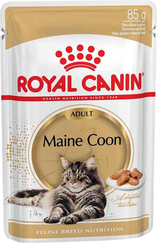Royal Canin Консервы в соусе для взрослых кошек породы мейн-кун Maine Coon Adult (85 г)Royal Canin<br>Royal Canin Консервы в соусе для взрослых кошек породы мейн-кун Maine Coon Adult<br>