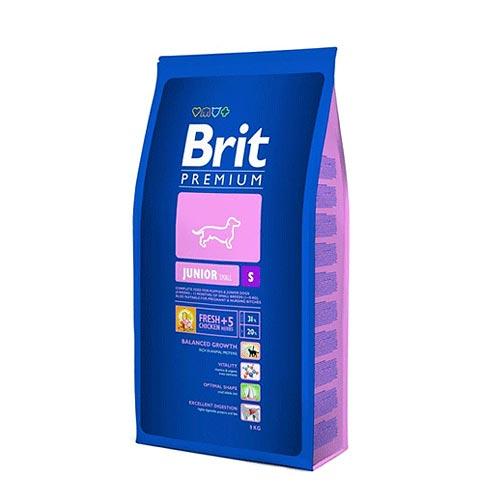 Brit Premium Сухой корм для щенков малых пород от 4 недель до 12 месяцев Junior S (8 кг)Brit<br>Brit Premium Сухой корм для щенков малых пород от 4 недель до 12 месяцев Junior S<br>