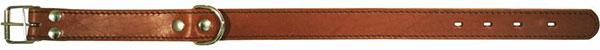Zooexpress Ошейник для собак двухслойный строченый 14 мм*35 см (оранжевый)ZooExpress<br>Zooexpress Ошейник для собак двухслойный строченый 14 мм*35 см<br>