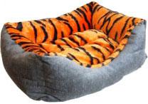 Zooexpress Лежанка-пухлик для собак (мебельная ткань+мех) (55 см)ZooExpress<br>Zooexpress Лежанка-пухлик для собак (мебельная ткань+мех)<br>