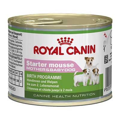 Royal Canin Консервы для щенков, беременных и кормящих сук Starter Mousse Mother&amp;Babydog (195 г)Royal Canin<br>Royal Canin Консервы для щенков, беременных и кормящих сук Starter Mousse Mother&amp;Babydog<br>