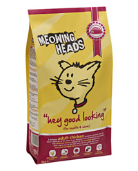 Meowing Heads Сухой корм для взрослых кошек с курицей и рисом Эй, красавчик Hey Good Looking (1,5 кг)Meowing Heads<br>Meowing Heads Сухой корм для взрослых кошек с курицей и рисом Эй, красавчик Hey Good Looking<br>