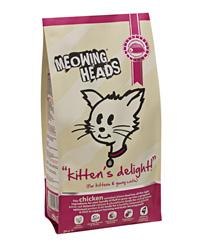 Meowing Heads Сухой корм для котят с курицей и рисом Восторг котенка Kitten`s Delight (2 кг)Meowing Heads<br>Meowing Heads Сухой корм для котят с курицей и рисом Восторг котенка Kitten`s Delight<br>